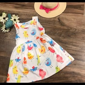 Chirp chirp.! With this fun casual toddler dress!
